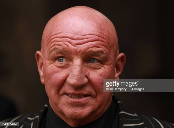 Dave Courtney attends the funeral of Bruce Reynolds, the mastermind behind the Great Train Robbery of 1963 at St Bartholomew The Great Church in...