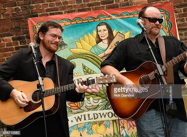 Dave Daeger and John Carter Cash perform the June Carter Cash Birthday Celebration At The Opening Of The June Carter Cash Wildwood Flower Garden at...