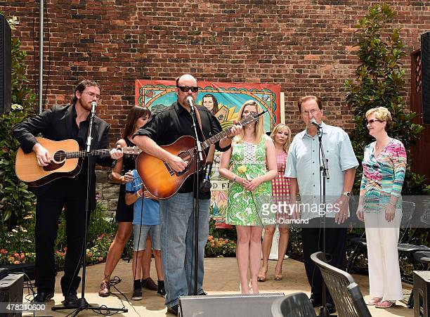 Dave Daeger John Carter Cash Ana Christina along with Carter Cash family perform during the June Carter Cash Birthday Celebration At The Opening Of...