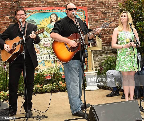 Dave Daeger John Carter Cash and Girlfriend Ana Christina perform during the June Carter Cash Birthday Celebration At The Opening Of The June Carter...