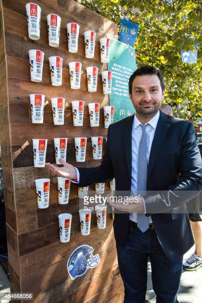 Dave Dameshek of the NFL Network showed his passion for tailgating at McDonald's NFL season opener partyÓ on September 4 2014 in Seattle Washington