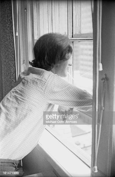 Dave Davies of the rock group 'The Kinks' relaxes in their hotel room in August 1965 in New York New York