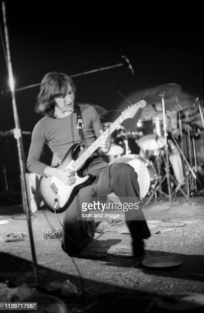 Dave Davies who with his brother Ray founded The Kinks one of the pioneering rock bands of the British Invasion performs in Central Park at the...