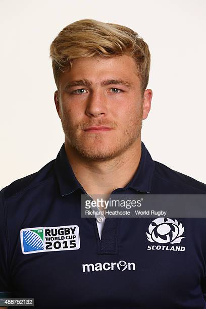 Dave Denton of Scotland during the Scotland Rugby World Cup 2015 squad photo call at the Hilton Puckrup Hall Hotel on September 17 2015 in Tewkesbury...