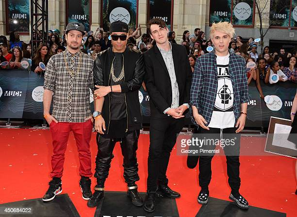 Dave Dggy Ferris Martin Bucky Seja Patrick Pat Gillett and Cameron Camm Hunter of Down With Webster arrive at the 2014 MuchMusic Video Awards at...