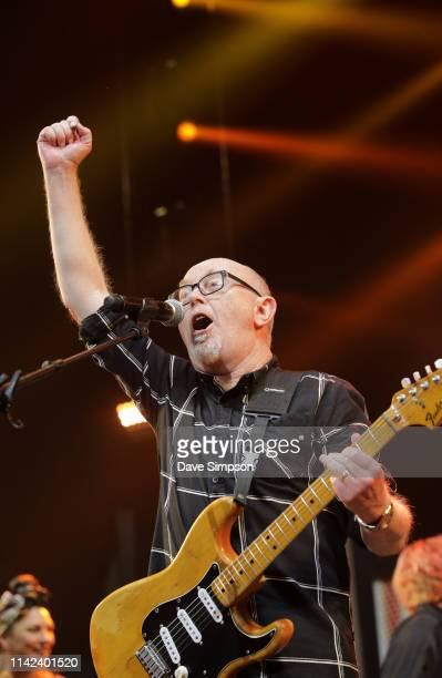 Dave Dobbyn performs during the finale of You Are Us/Aroha Nui Concert at Spark Arena on April 13, 2019 in Auckland, New Zealand. The fundraising...