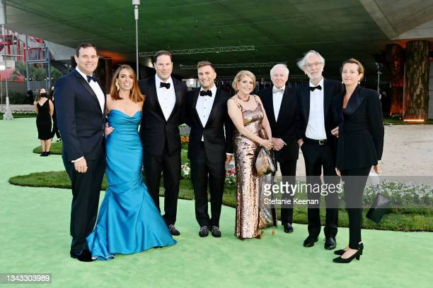Dave Dolby, Natasha Dolby, Dagmar Dolby, Tom Dolby, Renzo Piano and Emilia Rossato attend the Academy Museum of Motion Pictures: Opening Gala...