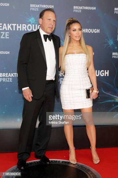 Dave Dollinger and Tara Dollinger attend the 2020 Breakthrough Prize Red Carpet at NASA Ames Research Center on November 03 2019 in Mountain View...