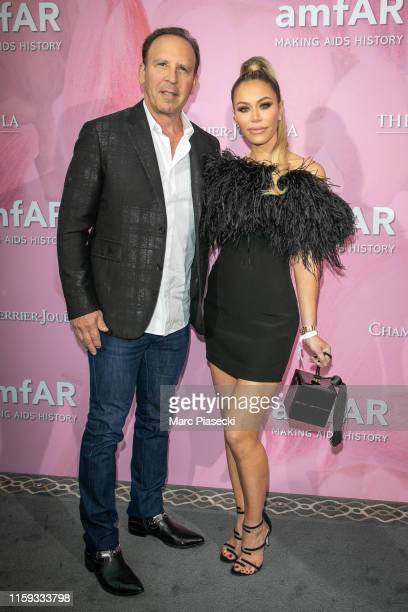 Dave Dollinger and Tara Dollinger attend the Amfar Gala At The Peninsula Hotel In Paris on June 30 2019 in Paris France
