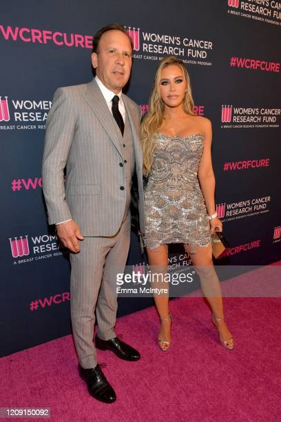 Dave Dollinger and Tara Dollinger attend WCRF's An Unforgettable Evening at Beverly Wilshire A Four Seasons Hotel on February 27 2020 in Beverly...