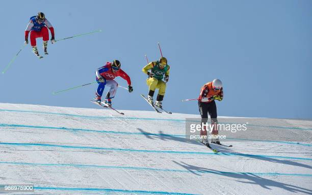 Dave Duncan from Canada Paul Eckert from Germany Jean Frederik Chapuis from France and Egor Korotkov from the team Olympic Athletes from Russia...