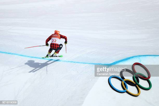 Dave Duncan of Canada competes in the Freestyle Skiing Men's Ski Cross Seeding on day 12 of the PyeongChang 2018 Winter Olympic Games at Phoenix Snow...