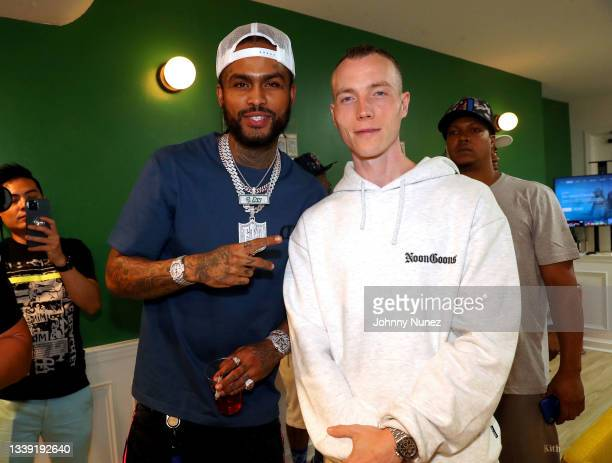 Dave East and DJ Skee attend the Wu-Tang: An American Saga Season 2 Premiere Watch Party with DJ SKEE at Bleeker Trading on September 08, 2021 in New...