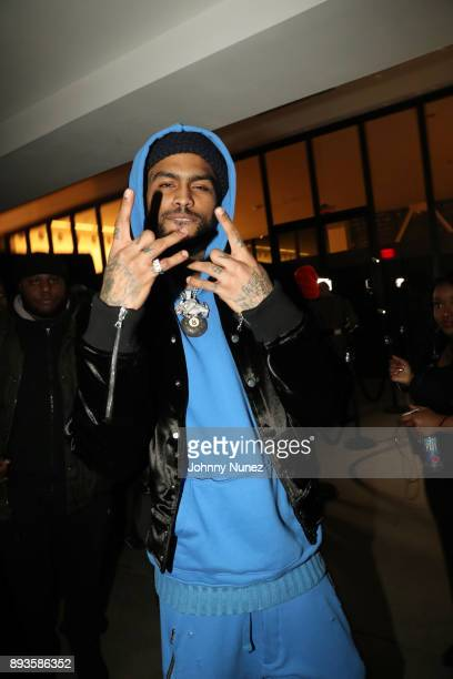 Dave East attends the def jam Christmas Party at Spring Place on December 14 2017 in New York City