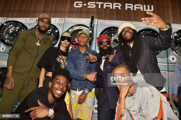 Dave East India Graham Desiigner Pharrell Williams Tariq Luqmaan Trotter Jaden Smith and DRAM attend the Pharrell Williams And GStar RAW Present The...