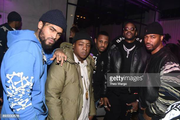 Dave East Jadakiss Fabolous 2 Chainz and Serius Jones attend as Def Jam Recordings Celebrates the Holidays with Patron at Spring Place on December 14...