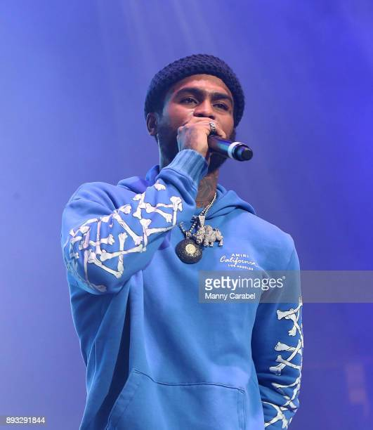 Dave East performs onstage at the 2017 Hot for the Holidays concert at Prudential Center on December 14 2017 in Newark New Jersey