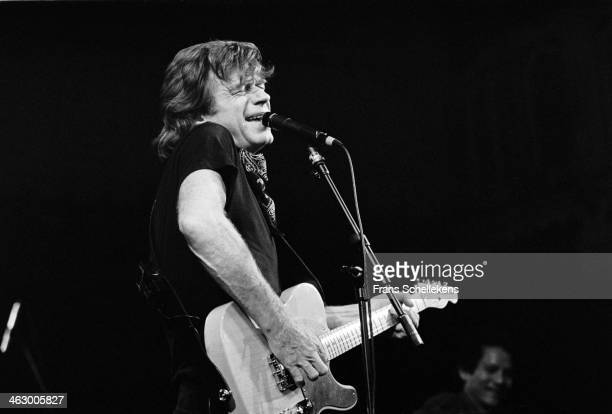 Dave Edmunds, vocal, performs at the Paradiso on 1st March 1990 in Amsterdam, the Netherlands.