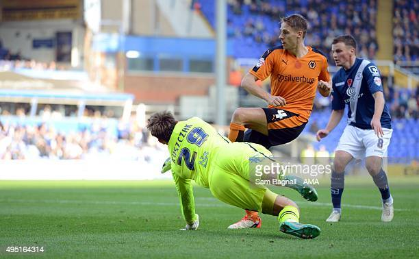 Dave Edwards of Wolverhampton Wanderers scores a goal to make it 01 during the Sky Bet Championship match between Birmingham City and Wolverhampton...