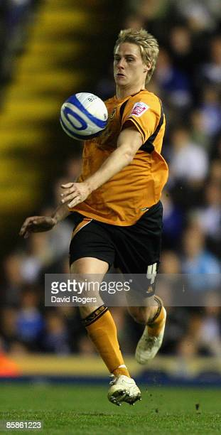 Dave Edwards of Wolves pictured during the CocaCola Championship match between Birmingham City and Wolverhampton Wanderers at St Andrews on April 6...