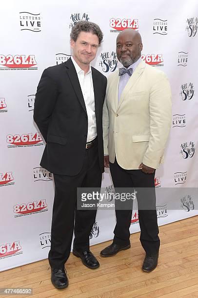 Dave Eggers and Gerald Richards attend 826LA's 10th Anniversary Gala at Santa Monica Bay Woman's Club on June 16 2015 in Santa Monica California