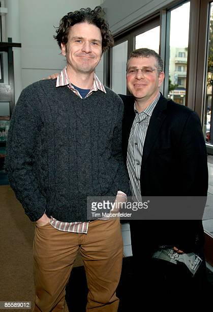 Dave Eggers and James Kass attend the Premiere of HBO's Brave New Voices Youth Speaks at the Sundance Kubuki Cinemas on March 24 2009 in San...