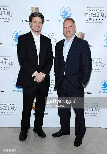 Dave Eggers and Michael Caruso attend Smithsonian Magazine's 2013 American Ingenuity Awards on November 19 2013 in Washington DC
