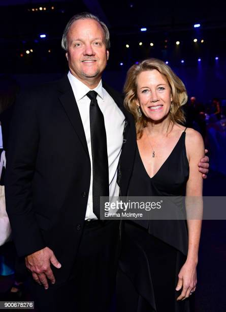 Dave Evans and Lisa Bruce attend the 29th Annual Palm Springs International Film Festival Awards Gala at Palm Springs Convention Center on January 2...
