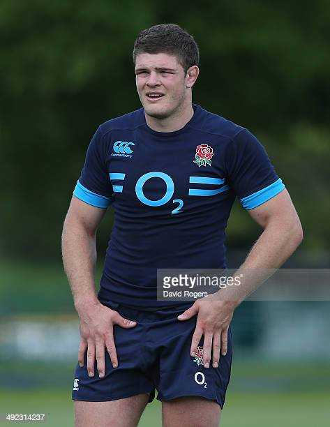 Dave Ewers looks on during the England training session held at the Lensbury Club on May 19 2014 in Teddington England