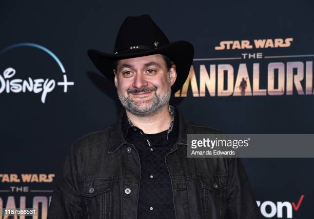 """Dave Filoni arrives at the premiere of Disney+'s """"The Mandalorian"""" at the El Capitan Theatre on November 13, 2019 in Los Angeles, California."""