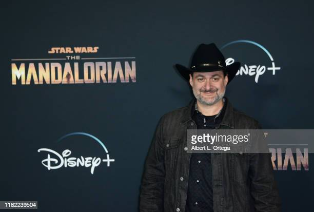 """Dave Filoni arrives for the Premiere Of Disney+'s """"The Mandalorian"""" held at El Capitan Theatre on November 13, 2019 in Los Angeles, California."""