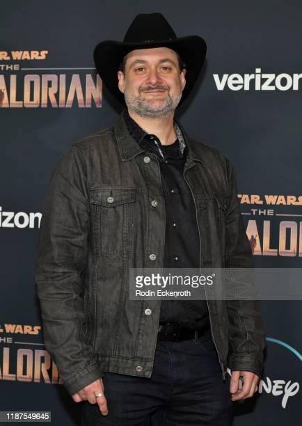 "Dave Filoni attends the premiere of Disney+'s ""The Mandalorian"" at El Capitan Theatre on November 13, 2019 in Los Angeles, California."