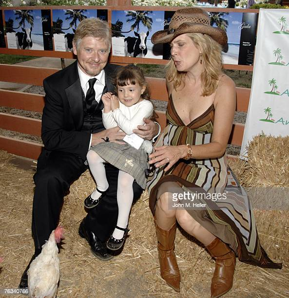 Dave Foley Alina Foley and Lorri Bauston Founder Animal Acres attend the Animal Acres 2007 Gala Fundraiser at Animal Acres on August 25 2007 in Acton...