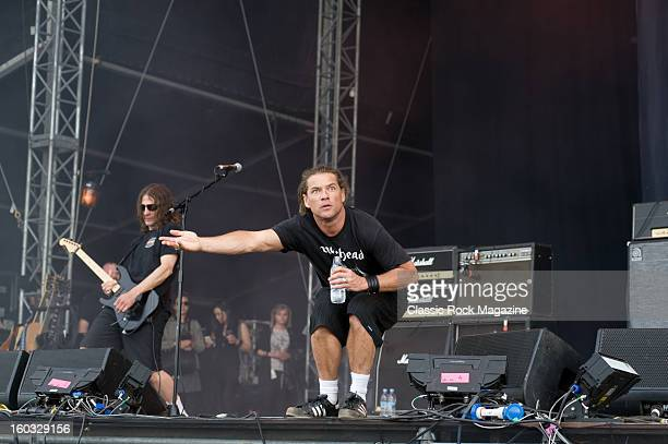 Dave Fortman and Whitfield Crane of American rock band Ugly Kid Joe performing live onstage at Download Festival June 10 2012