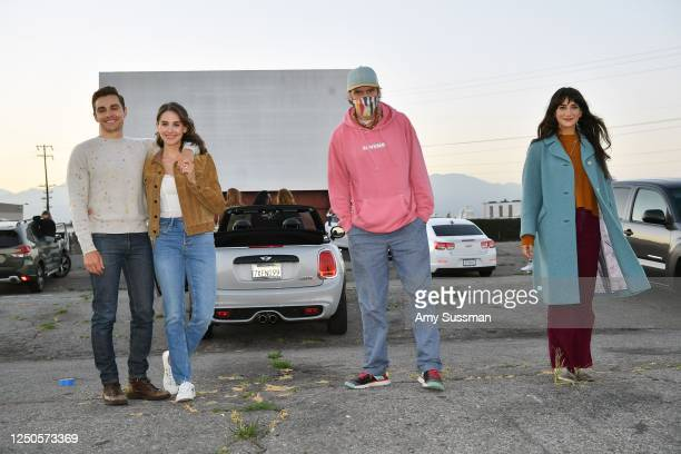 Dave Franco Alison Brie Dan Stevens and Sheila Vand attend the Los Angeles advanced screening of IFC's The Rental at Vineland DriveIn on June 18 2020...