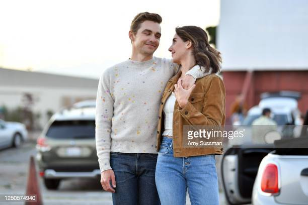 """Dave Franco and Alison Brie attend the Los Angeles advanced screening of IFC's """"The Rental"""" at Vineland Drive-In on June 18, 2020 in City of..."""