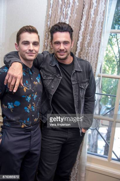 Dave Franco and James Franco at 'The Disaster Artist' Press Conference at the Four Seasons Hotel on November 18 2017 in Beverly Hills California
