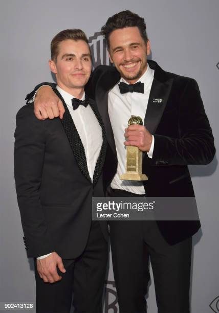 Dave Franco and James Franco attend 19th Annual PostGolden Globes Party hosted by Warner Bros Pictures and InStyle at The Beverly Hilton Hotel on...