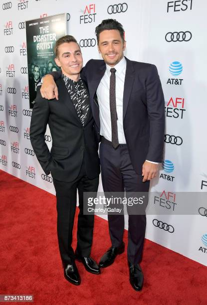 Dave Franco and James Franco attend 'The Disaster Artist' Presented by Audi at AFI Festival at The Hollywood Roosevelt Hotel on November 12 2017 in...