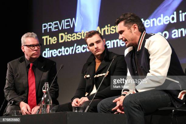Dave Franco and James Franco attend the screening and QA for The Disaster Artist at BFI Southbank on November 20 2017 in London England