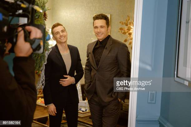 Dave Franco and James Franco check in from the green room with James Corden during 'The Late Late Show with James Corden' Monday December 11 2017 On...