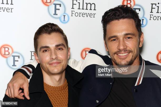 Dave Franco and James Franco the screening and QA for The Disaster Artist at BFI Southbank on November 20 2017 in London England