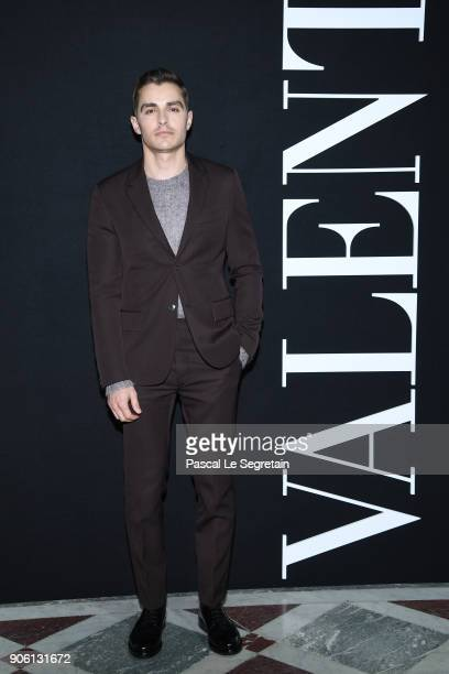 Dave Franco attends the Valentino Menswear Fall/Winter 20182019 show as part of Paris Fashion Week on January 17 2018 in Paris France