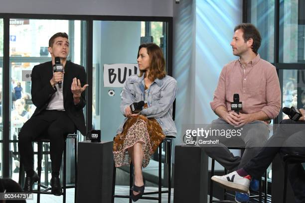 Dave Franco Aubrey Plaza and Jeff Baena visit the Build Series to discuss the new film 'The Little Hours' at Build Studio on June 29 2017 in New York...