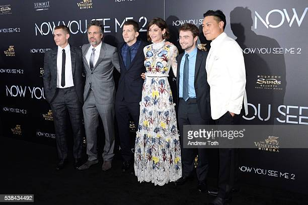 Dave Franco Jesse Eisenberg Lizzy Caplan Mark Ruffalo Daniel Radcliffe and Jon Chu attend the Now You See Me 2 world premiere at AMC Loews Lincoln...