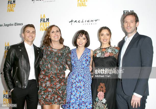Dave Franco Molly Shannon Kate Micucci Aubrey Plaza and Jeff Baena arrive at the 2017 Los Angeles Film Festival screening of The Little Hours held at...