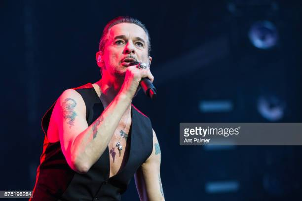 COLOGNE GERMANY June 05 Dave Gahan and Depeche Mode perform at the Rhein Energie Stadium on June 5 2017 in Cologne Germany The concert took place...