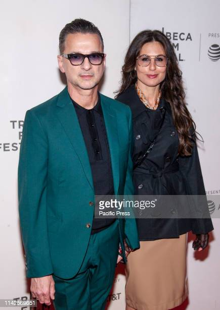 Dave Gahan and Jennifer Sklias Gahan attends screening of It Takes a Lunatic during Tribeca Film Festival at Stella Artois Theatre at BMCC TPAC