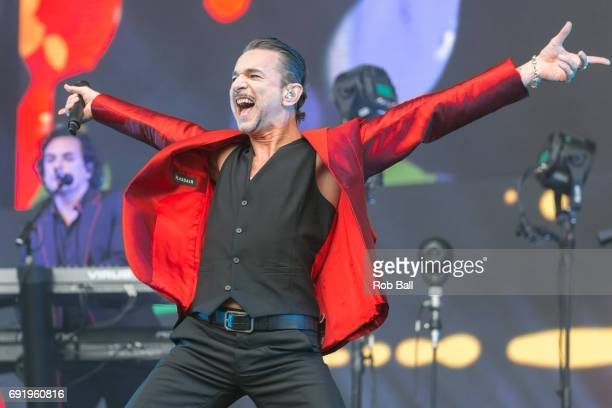 Dave Gahan from Depeche Mode perform at London Stadium on June 3 2017 in London England