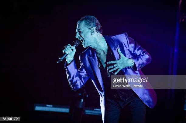 Dave Gahan from Depeche Mode performs at AccorHotels Arena on December 3, 2017 in Paris, France.
